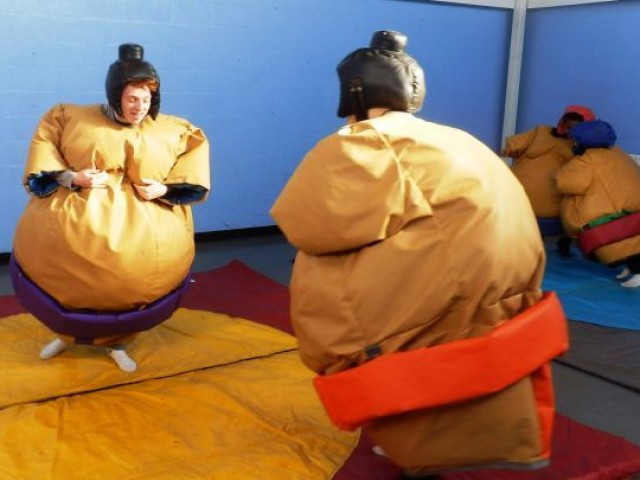 Sumo Wrestling at the Fun Day 2015
