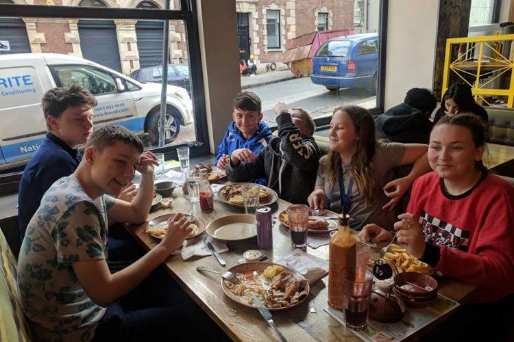 Young Carers Meal at Nandos