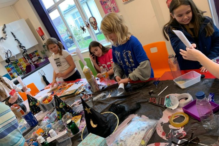 Halloween themed activities at the Young Carers Heroes Group